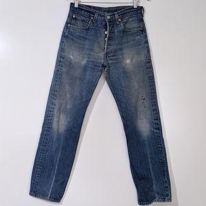 Levi's 501 XX 32x34 Distressed Denim Blue Jeans